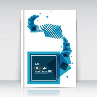 Abstract composition, square text frame surface, white a4 brochure title sheet, creative figure, logo sign construction, firm banner form, transparent quadrate icon, flier fashion, EPS10 vector illustration