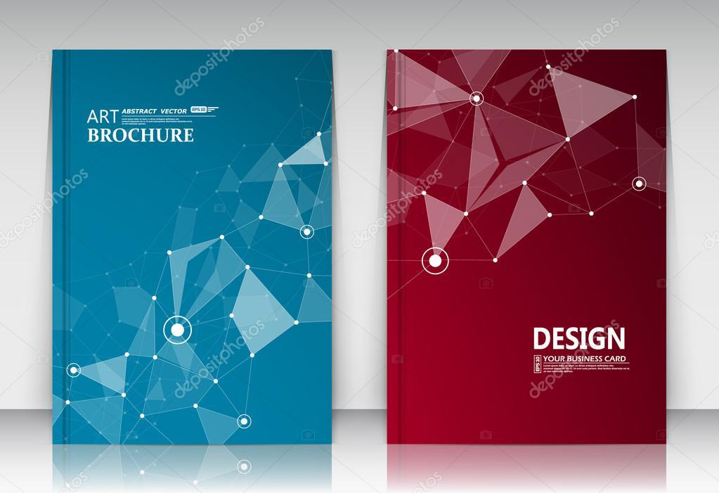 Composition Abstraite Jeu De Carte Visite Collection Correspondance A4 Titre Feuille Brochure Bleu Surface Rouge Cadre Texte Creatif