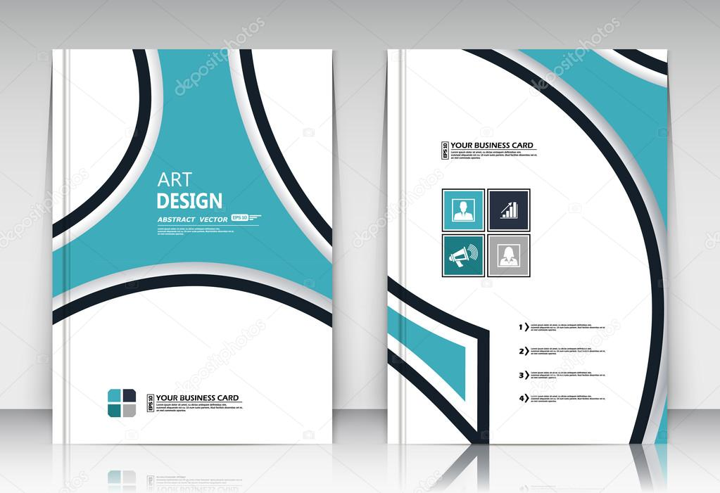 Abstract composition, figure logo business card set, correspondence ...