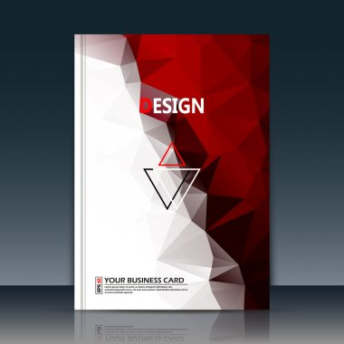 Abstract composition, red, white polygonal texture text frame surface, a4 brochure title sheet, creative figure logo sign, trademark flag, firm name emblem, slug banner form, flier fashion, diigital daily periodical issue, editable EPS10 illustration