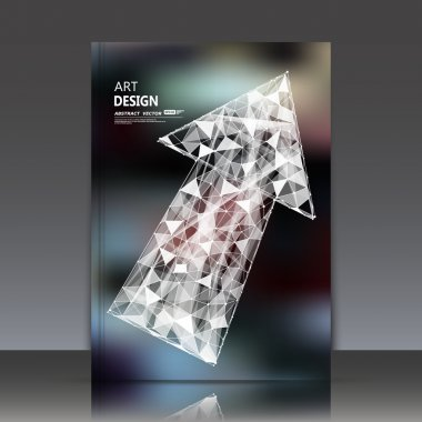 Abstract composition, arrow element, polygonal triangle construction, direction orientation mark, dot, line connection, a4 brochure title sheet, business card surface backdrop, EPS10 fashionable fiber, fancy flier fashion, daily periodical issue