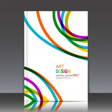 Abstract composition, line interlacement, rainbow color rays cross frame, multicolor plexus, weave, motley yarn, filament lint surface, web fiber texture, white business card backdrop, stripe bands, fancy flier fashion, daily periodical issue, EPS10