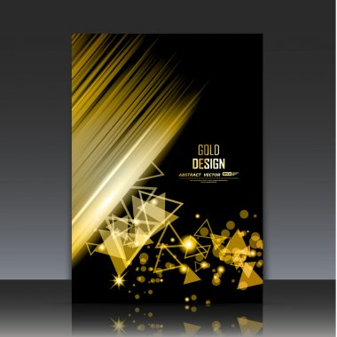 Abstract composition, golden outer space galaxy, glory star ray, a4 brochure title sheet, cosmic sky icon, luxury text frame surface, chic creative figure, gloss logo sign, posh firm banner form, fancy flier fashion, daily periodical issue, EPS10