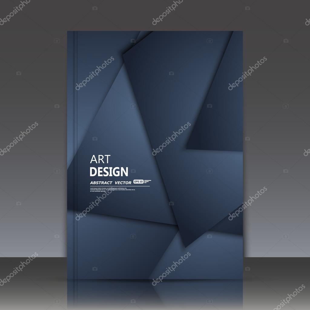 Abstract composition, text frame, black geometric shapes interlacement theme, a4 brochure title sheet, dark business card surface, fancy flier fashion, daily periodical issue, fiber texture, triangle figure font construction, EPS10 illustration