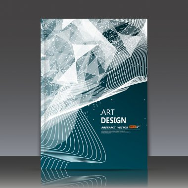 Abstract composition, text frame, neon polygonal triangle construction, a4 brochure title sheet, curve band, dot, line icon, futuristic strip backdrop, interlocking weave, flier fashion, daily periodical issue, technology surface, EPS10 illustration