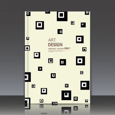 Abstract composition, light elegant surface, classic square text frame, white a4 brochure title sheet, creative figure, logo sign construction, firm banner form, retro quadrate icon, fancy flier fashion, daily periodical issue, EPS10 illustration