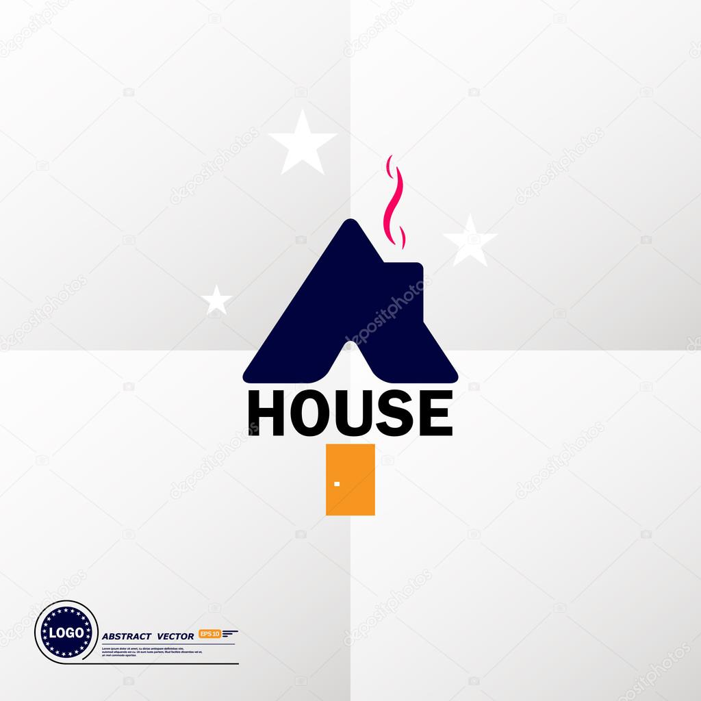 Abstract composition art dwelling house icon comfy box house abstract composition art dwelling house icon comfy box house image housebuilding civil engineering project trademark sweet home symbol lodge building buycottarizona