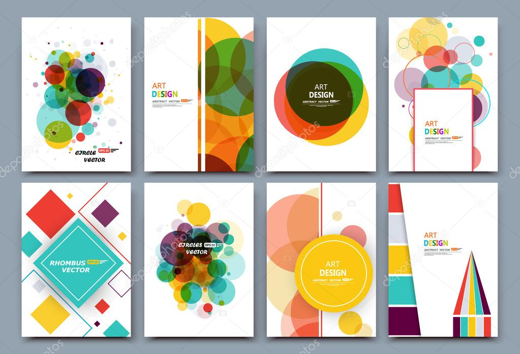 Abstract Composition Business Card Set Correspondence Letter Collection A4 Brochure Title Sheet Certificate Diploma Patent Charter