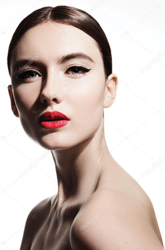 Female Model Face With Stylish Make Up Stock Photo C Novick Maria Gmail Com 95613886
