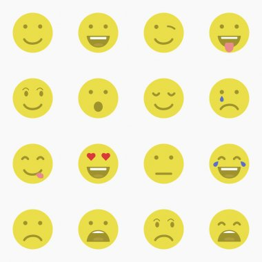 Set of Emoticons. Set of Emoji. Set of Avatar