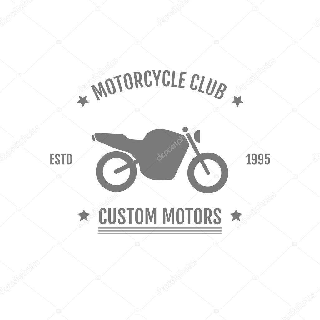 Oldtimer Motorrad Club Logo Abbildung — Stockvektor © mopc.art95 ...