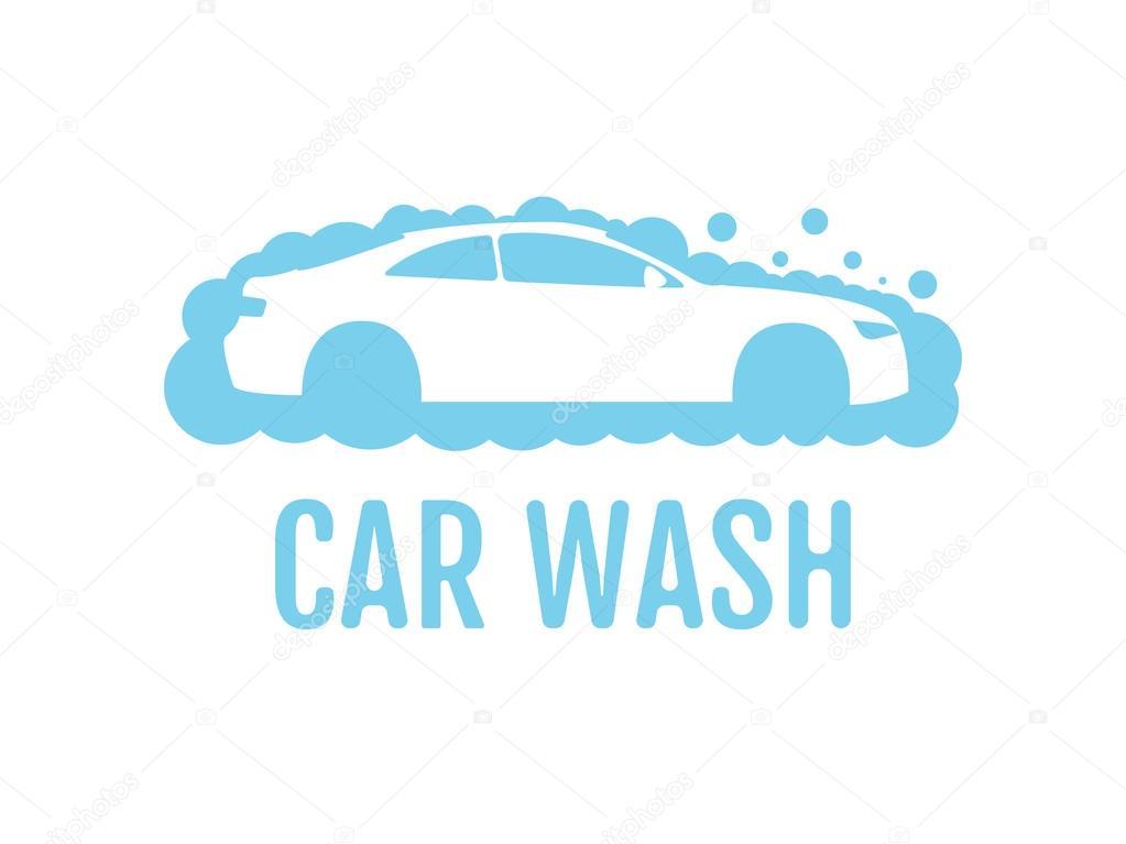 car wash logo design layout corporate vector symbol concept unique