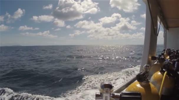 Lodí, potápění, potápění, loď, Ocean, hnutí, slunečný den