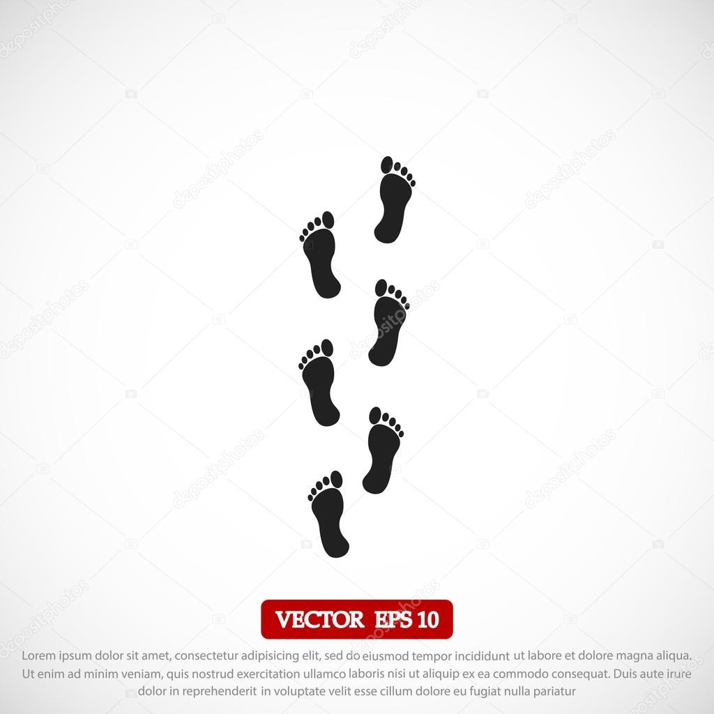 footprints vector icon