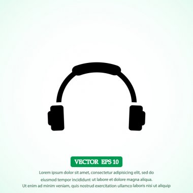 headphone vector  icon
