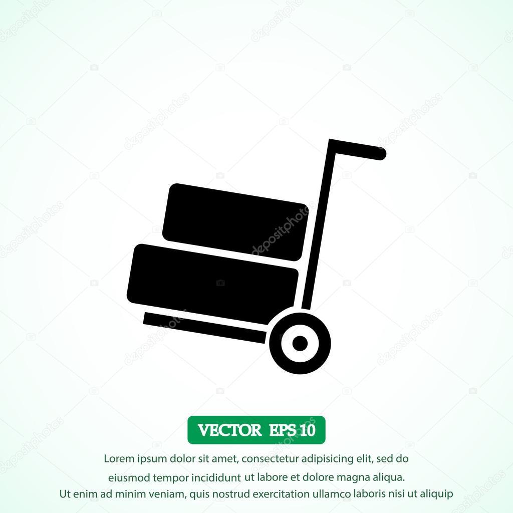 luggage wheelbarrow icon