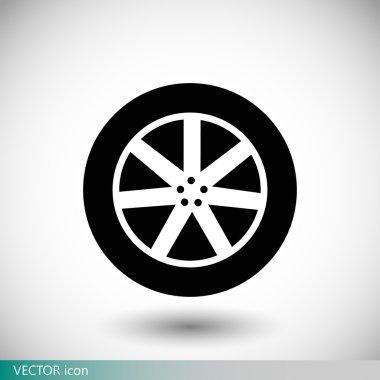 automobile wheel icon