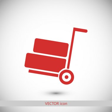 wheelbarrow icon illustration