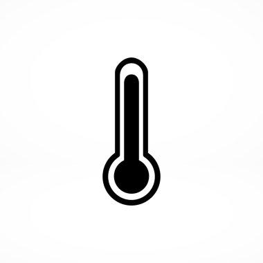 Thermometer, temperature icon. vector illustration clip art vector