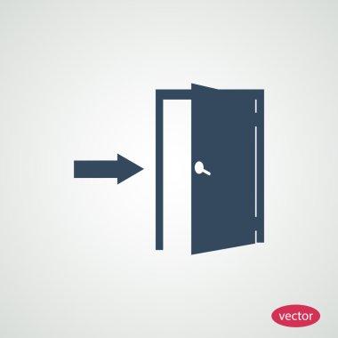 door exit flat icon