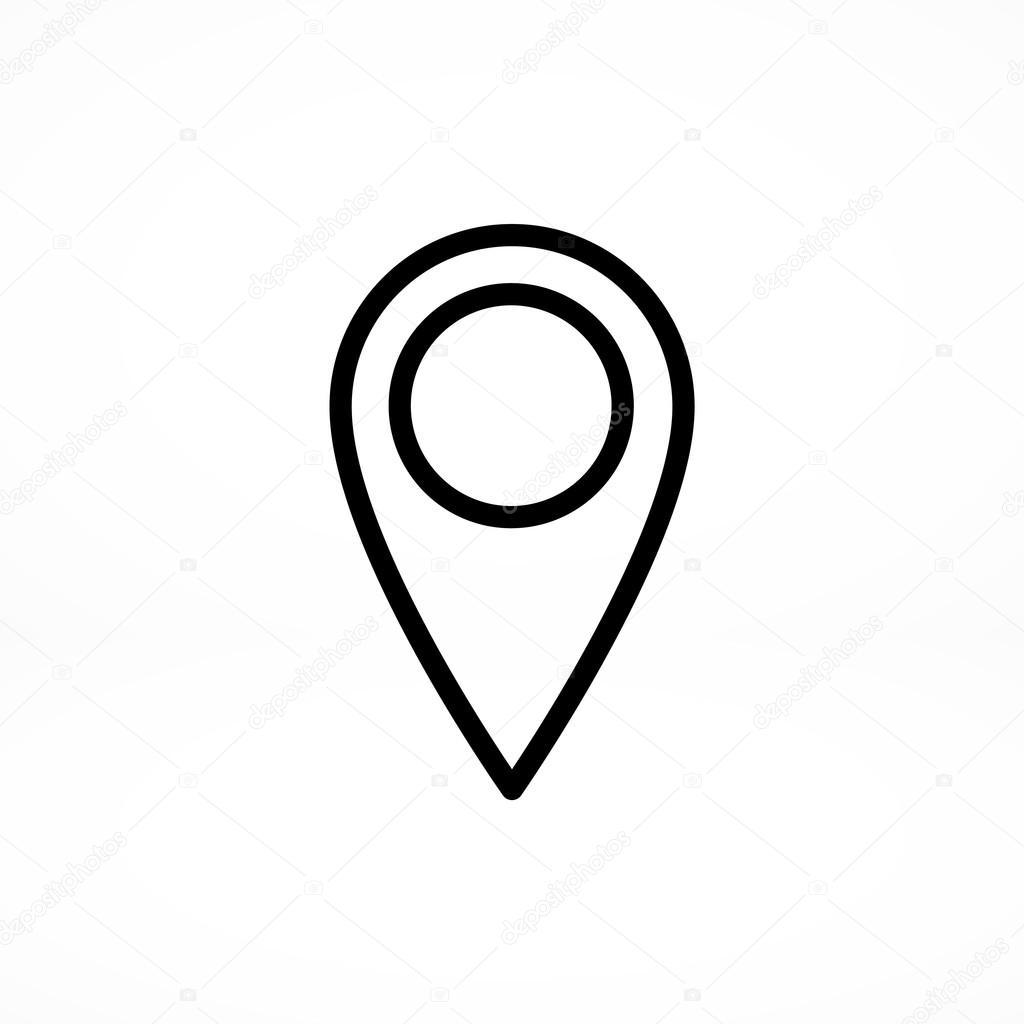 Zeiger, Standort-Symbol — Stockvektor