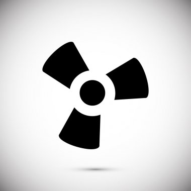 black fan and propeller icon
