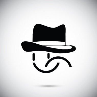 smile in hat icon