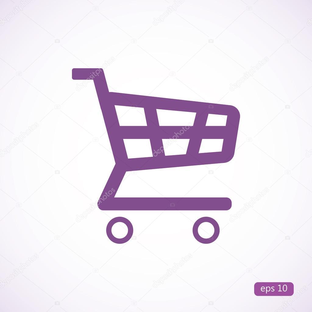 shopping cart icon stock vector simva 96606790