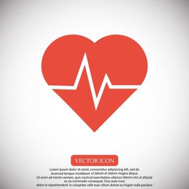 heartbeat vector icon