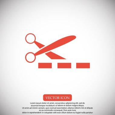 scissors and ribbon icon