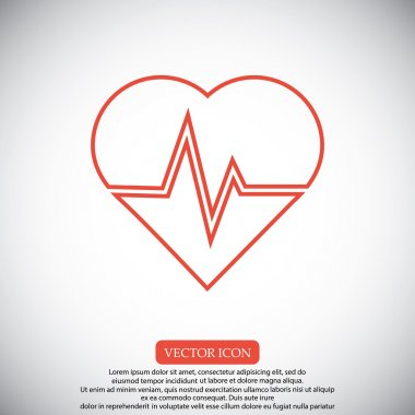 heart and cardiogram icon