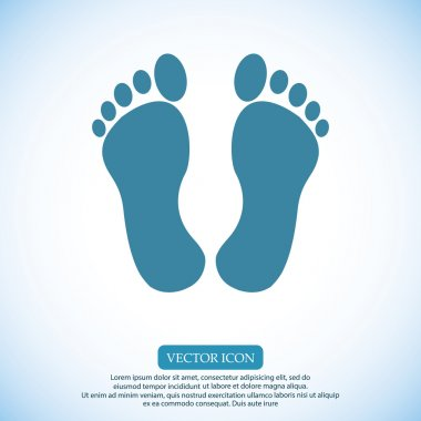 footprints vector icon