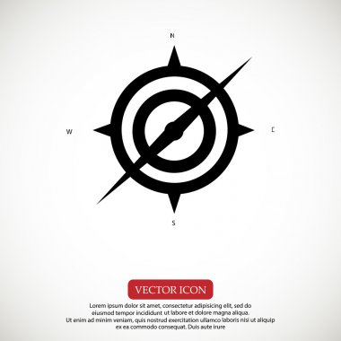 travel compass icon