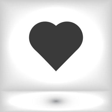 Symbol hart icon, vector illustration stock vector