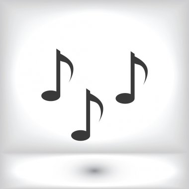 Music notes sign icons