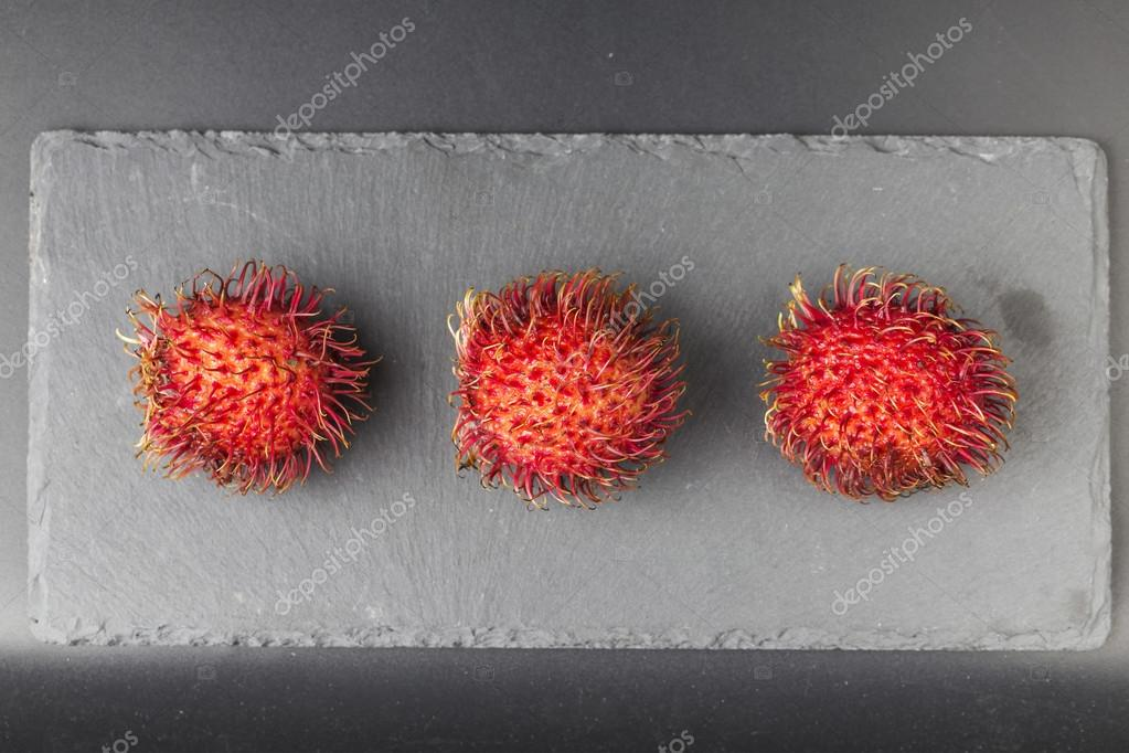 Hairy red fruit