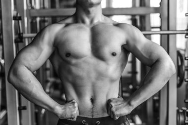 Man, muscle, Menzerna, gym, black and white photographs, strength, back muscles, chest, dumbbell, discus