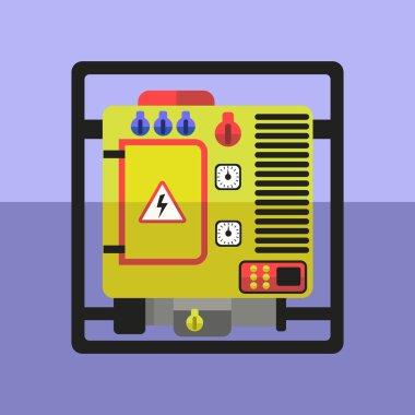 Generator flat illustration