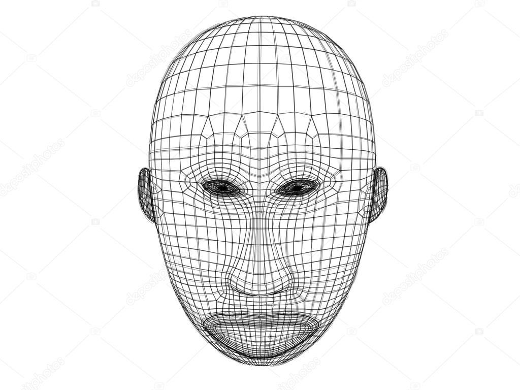 3d mask wireframe — Stock Photo © fares139.hotmail.com #110964712
