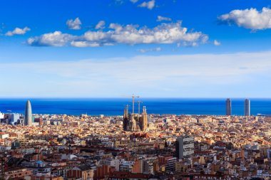 Panoramic view of Barcelona city