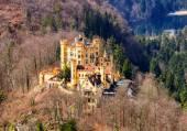 Fotografie Schloss Hohenschwangau Castle (High Swan County Palace), Fussen, Bayern, Deutschland