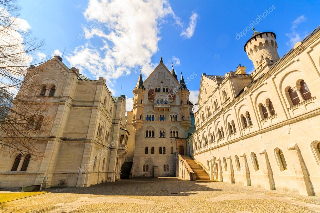 Neuschwanstein castle in Schwangau, Germany (Bavaria)