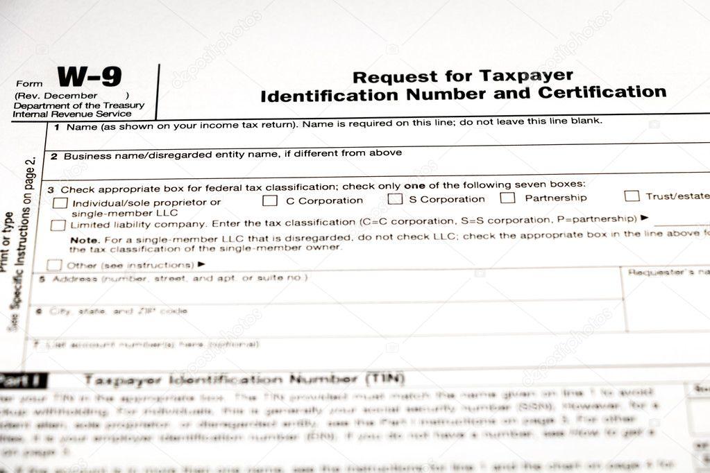 Tax Form 1040 Or W 9 Stock Photo Daliu 116272292