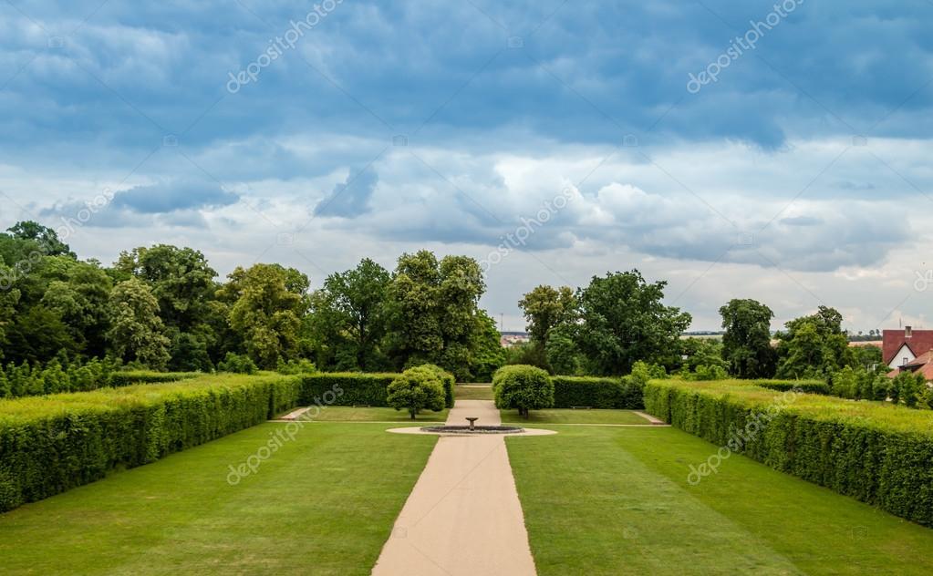 Castle garden in Brno