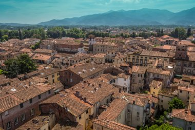 View over Italian town Lucca