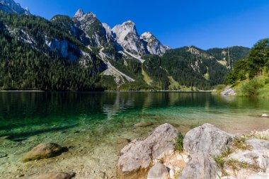 Beautiful landscape of alpine lake