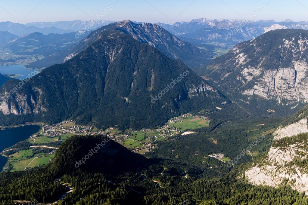 Beautiful Alps view from Dachstein Mountain