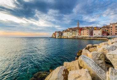 Beautiful sunset at Rovinj