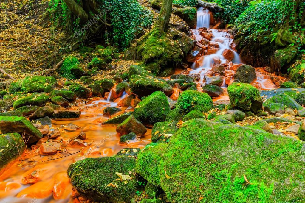 View of beautiful waterfall