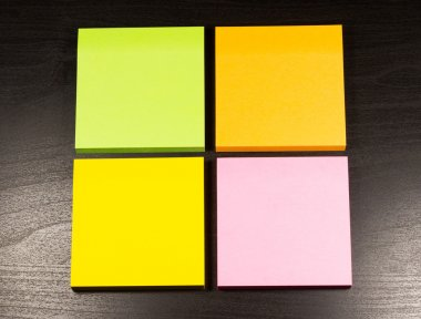 Colored sticky note
